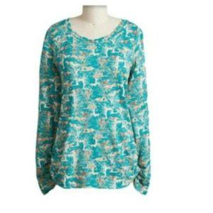 Sundance Wild & Free Horses Tee in Teal Size L